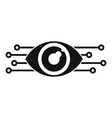smart robot eye icon simple style vector image vector image