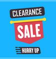 social media clearance sale banner vector image