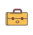 suitcase portfolio flat line vector image