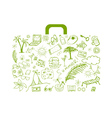 Summer holiday suitcase vector image vector image