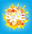 sunburst sale colorful banner vector image vector image