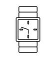wristwatch clock symbol vector image