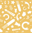 yellow white scattered arrows pattern vector image