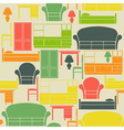 Seamless pattern with furniture vector image