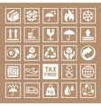 Carton Cardboard Box Icons vector image