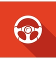 Racing steering wheel vector image
