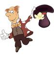 a magician cartoon vector image vector image