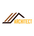 abstract architect icon vector image