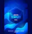 abstract colored electro summer wave music poster vector image