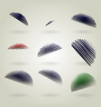 abstract sketchy line set vector image