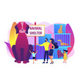 animal shelter concept vector image