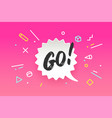 banner go in geometric style vector image vector image