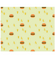 beautiful seamless hamburger pattern vector image vector image