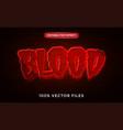 blood text effect premium vector image vector image