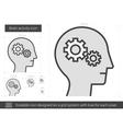 Brain activity line icon vector image vector image