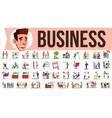 business people set meeting talking vector image vector image