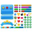cartoon user interface casual video games ui kit vector image vector image