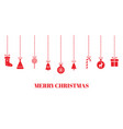 christmas red baubles on transparent background vector image vector image
