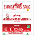 christmas sale web banner collection vector image