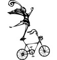 circus bicycle vector image vector image