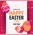 composition of easter sale card template vector image