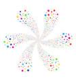 confetti stars spiral explosion vector image vector image