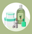 cosmetics set package hydration cream and vector image vector image