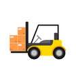 delivery icon with warehouse forklift vector image vector image