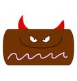 devil cake with horns on white background vector image vector image