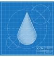 Drop icon Eps10 vector image