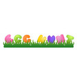 easter with quote egg hunt on vector image vector image