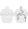easy cupcake maze vector image vector image