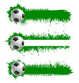 football or soccer ball with grunge strokes set vector image