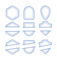 geometric frames set vector image vector image