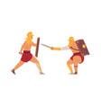 gladiators fight ancient roman warriors battle vector image