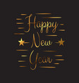 gold colored happy new year 2020 background vector image vector image