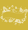 gold lace christmas background vector image vector image
