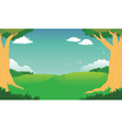 Green Forest Landscape Background vector image