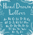 hand drawn letters vector image vector image