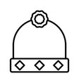 hat with jewelry accessory luxury icon thick line vector image