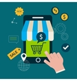 Icons for online shopping vector image vector image