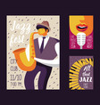 jazz music festival poster template flyer placard vector image