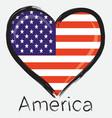 love america flag vector image