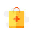 medical package icon in flat style vector image vector image