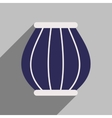 Modern flat icon with long shadow Indian basket vector image vector image