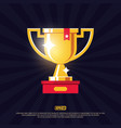 modern professional design winners cup in gold vector image vector image