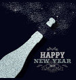 new year 2019 party silver glitter greeting card vector image vector image