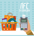 nfc technology for shopping vector image vector image