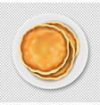 plate with pancake isolated transparent background vector image vector image
