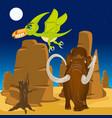 prehistorical animal on nature vector image